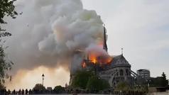 Así fue el incendio en la catedral de Notre Dame de París