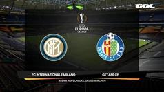 Europa League (octavos): Resumen y goles del Inter 2-0 Getafe