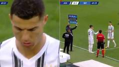 La genial actitud de Cristiano cuando le cambian por Morata... ¡en un Juventus-Inter!
