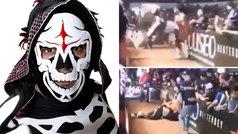 El luchador 'La Parka' sufre un grave accidente tras caer fuera del cuadrilátero