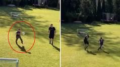 De tal palo... Qué clase tiene el hijo de Ribéry: se cruza el campo dando toques