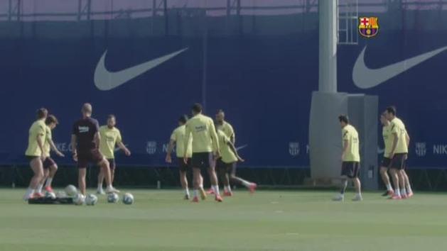 El Barça prepara el regreso de la liga elevando el ritmo en los entrenamientos