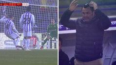 Horrible penalti de Rubén Alcaraz: lo tiró al medio... y Chichizola no picó