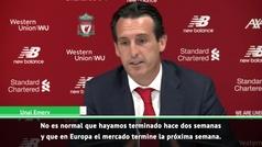 Emery se queja del mercado de fichajes europeo tras perder ante el Liverpool