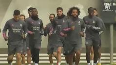Ramos trabaja con el grupo en Valdebebas... pero no viajará a Sevilla