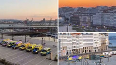 Homenaje a Amancio Ortega: ¡8 ambulancias frente a su casa de A Coruña!