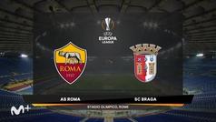 Uefa Europa League (Vuelta de dieciseisavos de final): Resumen y goles del Roma 3-1 Braga