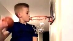 El niño que podría participar en el concurso de mates de la NBA