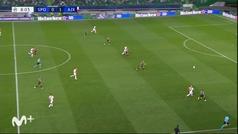 Gol de Haller (0-2) en el Sporting Portugal 1-5 Ajax