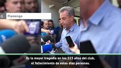 """El presidente de Flamengo: """"Es la mayor tragedia en los 123 años del club"""""""