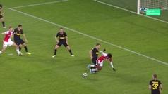 Gol de Soucek (p.) (1-1) en el Slavia 1-3 Inter