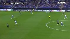 Gol de Javi López (p.p.) (0-1) en el Espanyol 1-1 Ferencvaros