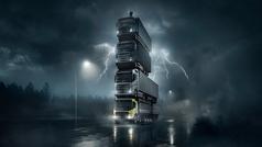 El increíble anuncio de Volvo Trucks: ¡cuatro camiones uno encima de otro!