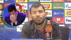 """Agüero revive cómo vivió la salida de Messi: """"Lo que quiero es que disfrute del fútbol"""""""