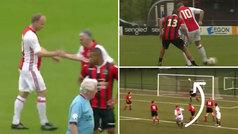 Suerte para el Madrid que Bergkamp no juegue en el Ajax: ¡recital de clase con 50 años!