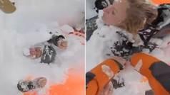 """¡Ayudadme! ¡Salvad a mi amigo!"""": angustioso rescate en Suiza tras una avalancha"""