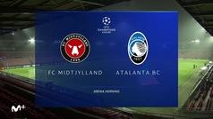 Resumen y goles del Midjylland  0-4 Atalanta