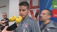 """La vacilada en perfecto español de Ribery a James en zona mixta: """"Número uno"""""""