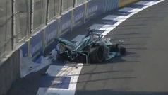 Impactante accidente de Nelson Piquet Jr. en la Fórmula E en México