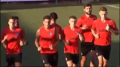 Joao Félix entrena junto al resto de sus compañeros