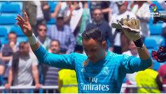 Tres paradones y una ovación en la despedida de Keylor del Bernabéu