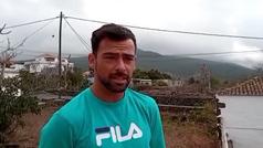 """Incertidumbre en el fútbol de La Palma: """"La mente está en el volcán y en si hay que evacuar"""""""
