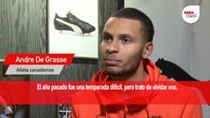 """Andre de Grasse: """"La lesión es un pequeño paso atrás y ahora viene un gran regreso"""""""