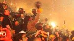 Uno de los mejores recibimientos de la historia: Peñarol vs Santos en Final Libertadores 2011