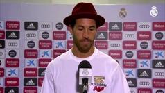 El gorro de Sergio Ramos en zona mixta que arrasa en las redes