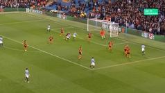 Gol de Silva (1-0) en el Manchester City 6-0 Shakthar
