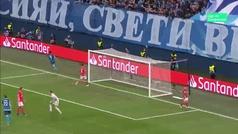Gol de Azmoun (3-0) en el Zenit 3-1 Benfica