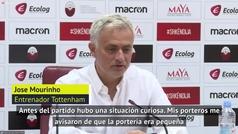 Mourinho denuncia la altura de las poterías del estadio del Shkendija