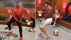 El baile africano que arrasa en el vestuario del United: Pogba alucina con un canterano
