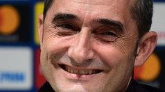 La respuesta de Valverde sobre el once del Barça que provocó las carcajadas en la sala de prensa