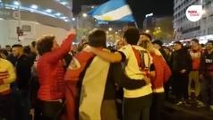 Euforia de los aficionados de River Plate