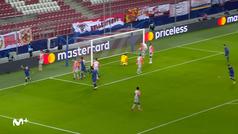 Gol de Mario Hermoso (0-1) en el RB Salzburgo 0-2 Atlético de Madrid