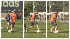 La maravilla de Odegaard en el entreno volviendo loco a sus compañeros que acaba en gol