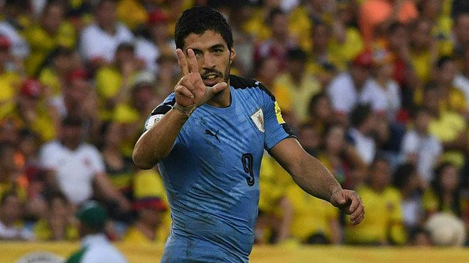 Nueve años del primer gol de Luis Suárez con la 'celeste' - Marca.com