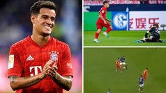 El debut de Coutinho con el Bayern: 90% en pases, pared con Lewandowski... y un cañito
