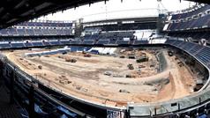 El Bernabéu ya no tiene ni césped... ni grada de tribuna
