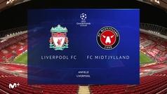 Champions League (J2): Resumen y goles del Liverpool 2-0 Midtjylland