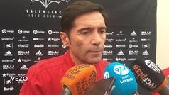 """Marcelino: """"Queremos tener ocho defensas, no nueve"""""""