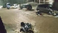"""""""¡No veas el destrozo, qué pena!"""" Riada torrencial en Málaga"""