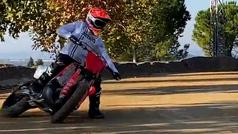 Así derrapa Marc Márquez con su moto de campo