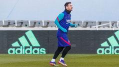 Messi entrena con el grupo y podría estar en la final de la Supercopa