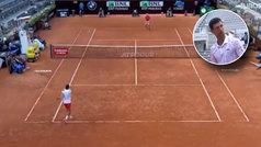 El juez de silla llama Federer a Djokovic... y el serbio pone esta cara