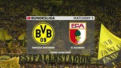 Bundesliga (J1): Resumen y goles del Borussia Dortmund 5-1 Augsburgo