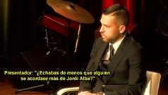 """Jordi Alba: """"Quiero retirarme en el Barça"""""""