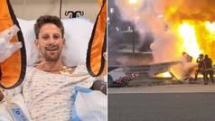 El emotivo mensaje de Grosjean en Instagram después de su accidente