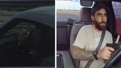 Un conductor dispara a otro en defensa propia a través del parabrisas mientras circulan